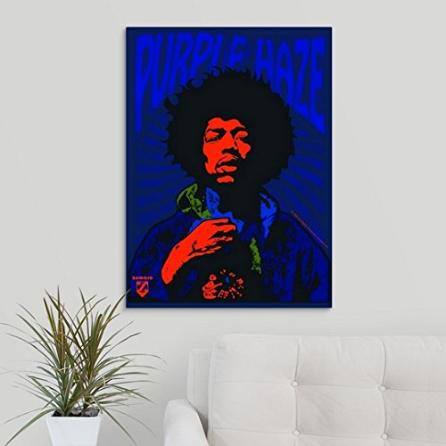 Gallery-Wrapped Canvas entitled Jimi Hendrix Purple Haze2 by Great BIG Canvas 22''x30''