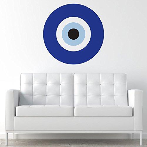 - My Wonderful Walls - Blue Evil Eye Wall Sticker Decal (Medium)
