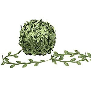 MoonLa Artificial Vines, 327Ft/100M Fake Hanging Plants Silk Ivy Eucalyptus Garlands Simulation Foliage Rattan Green Leaves Ribbon DIY Craft Wreath Accessory Home Wall Garden Wedding Party Decor 77