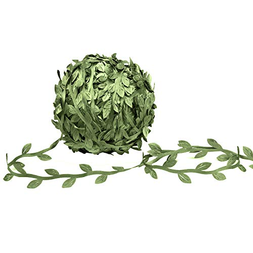 MoonLa Artificial Vines, 327Ft/100M Fake Hanging Plants Silk Ivy Eucalyptus Garlands Simulation Foliage Rattan Green Leaves Ribbon DIY Craft Wreath Accessory Home Wall Garden Wedding Party Decor