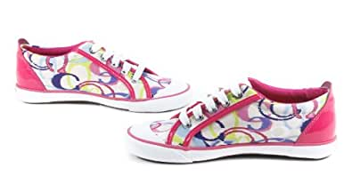 COACH Barrett Poppy Ikat Print Multicolor / Pink Fashion Sneakers 7 M MSRP $98