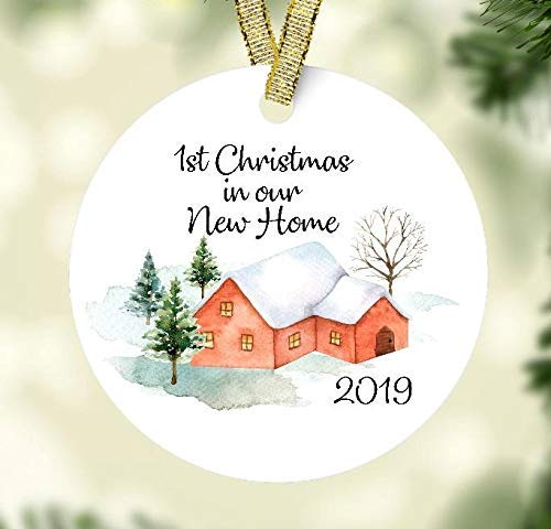 First Christmas In Our New Home 2019.First Christmas In Our New Home 2019 Ceramic Christmas Ornament For New Home Owner Housewarming Gift