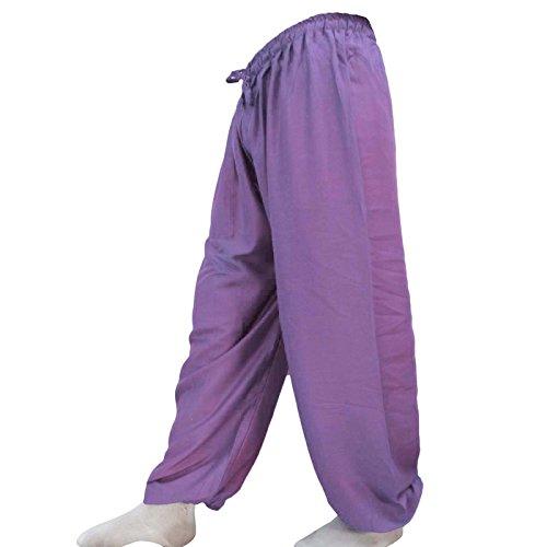 Hippie holgada mujeres Harem Harem Yoga Aladdin pantalones de las bragas de la India Casual Violet