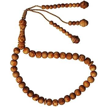 Hecho a mano ajustable tensi/ón Exotic 4,5/x 7/mm cuentas Tasbih de madera de s/ándalo pulsera 33-beads
