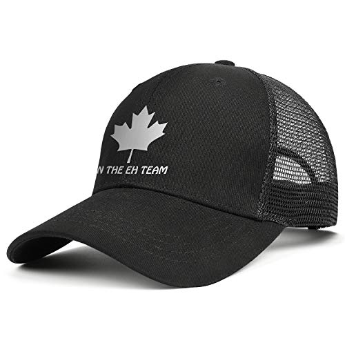 Unisex Vintage Mesh Flat Cap-On The Eh Team Canada Style Low Profile Travel Sunscreen Hat Outdoors