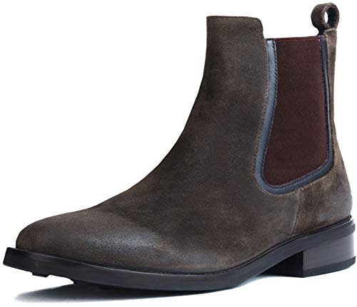 (Thursday Boot Company Duchess Women's Chelsea Boot, Dark Olive Suede, 8.5 M US)