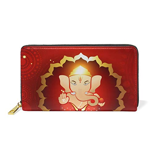 Wallet Illustraton Lord Handbags Hindu Zip Womens And Around Purses Clutch TIZORAX Ganesh Organizer Zt7wxq