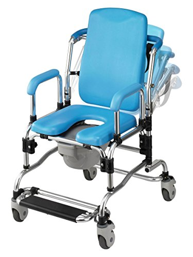 - Laguna Professional Reclining Shower Chair, Instutional Quality with Padded Seat, Back, Armrests and Free Bonus Package.