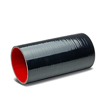 Black /& Red 3.75 inches Straight 8 inches Long Turbo//Intercooler//Intake Piping Coupler Silicone Hose