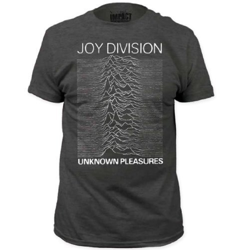 Joy Division Unknown Pleasures Adult Heather Charcoal Gray T-Shirt (Adult - Joy Adult T-shirt