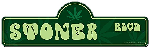 MightySkins Stoner Street Sign, 6 x 18 Inch from MightySkins
