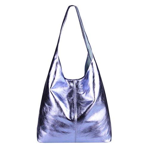 OBC Only-Beautiful-Couture - Bolso al hombro para mujer Negro Schwarz-Metallic ca.: 43x32x17 cm (BxHxT) morado