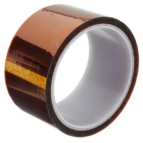 LiPing 33M(118in) High/Low-Temp Kapton Tape Polyimide Film Tape for 3D Printing, Soldering, Insulating Circuit Boards & More (Low-Temp, 50mm(2IN))
