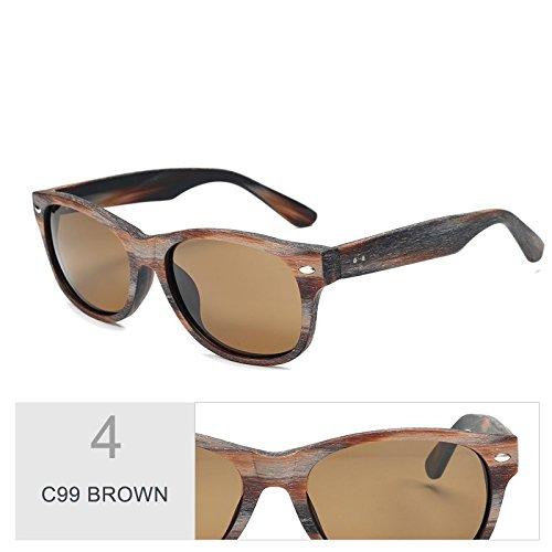 la BROWN de hombre de gafas grano Violeta en acetato de madera Sunglasses al sol C99 Similar gafas TL sol C99 wqfHX4