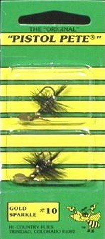 Pistol Pete Hi-Country Fishing Flies, Size 10, Gold - North Shopping Bend