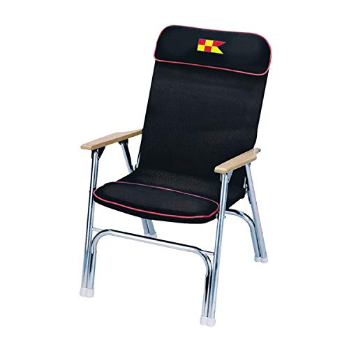 Garelick 35029-67:01 Padded Deck Chair-Black