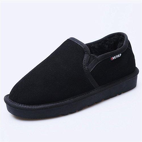 Boots Snow black pattino plus caldo mantenere alta bassa ad velluto tubo di per scarpe indossare le il resistente scrub scarpe SwFgqd
