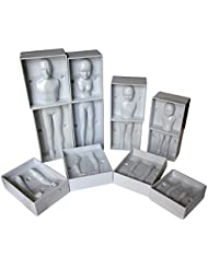 24 Pc Family Set of Plastic Human Fondant Moulds by Kurtzy - Full Family Set including 4 Sizes - Man, Women & 2 Children - Full Instructions Included - Perfect for Beginners and Professionals
