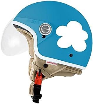 Casco Jet En Las Nubes Azul Y Blanco L 58cm Amazon Es Deportes Y Aire Libre