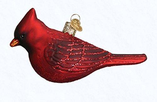 Cardinal Christmas Ornament (Old World Christmas Glass Blown Ornament Northern Cardinal)