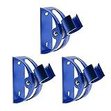 Shower Head Holder Saim Mount Universal Bathroom Wall Adjustable Handheld Shower Bracket with Mount Screw 93 Degree Rotation Set of 3 Blue