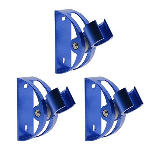 Shower Head Holder Saim Mount Universal Bathroom Wall Adjustable Handheld Shower Bracket with Mount Screw 93 Degree Rotation Set of 3 Blue by Saim