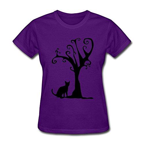 JSFAD Women's Cat Tree T-shirt M]()