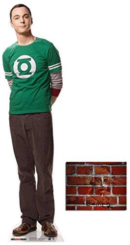 Fan Pack - Dr Sheldon Cooper (Jim Parsons) Big Bang Theory Mini Cardboard Cutout / Standup - Includes 8x10 Star Photo