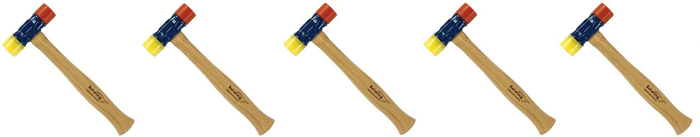 Estwing Rubber Mallet - 12 oz Double-Face Hammer with Soft/Hard Tips & Hickory Wood Handle - DFH12 (5)