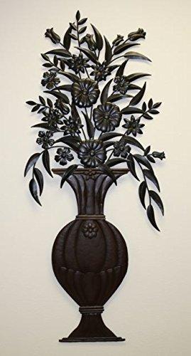 Oversize Floral Botanical Plaque Metal
