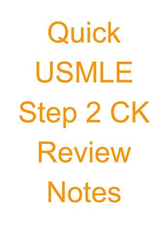 Quick USMLE Step 2 CK Review Notes (Quick USMLE Review) Pdf