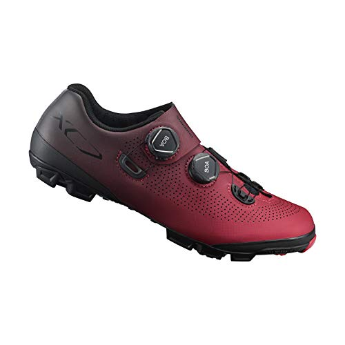 SHIMANO SH-XC701 LSG Series Off-Road Racing, XC Race, Cycling Bicycle Shoes, Red, 44