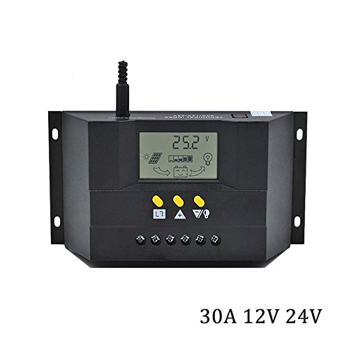 DPJ CM3024Z CM5024Z 30A 50A 12/24V Solar Regulator Charge Controller PWM Charge LCD Solar Panels Genetator Voltage Current (CM3024Z)