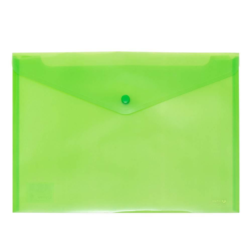2 x Portadocumentos con broche sobre plastico transparente 2 unidades