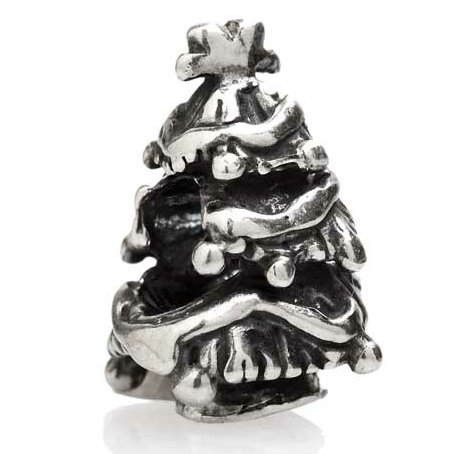 TEDORA ITALY 100% Hand-Made in Italy 925 Sterling Silver 'Christmas Tree' Charm Beads BEBV317 Fits Pandora Bracelet