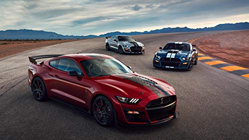 (2020 Ford Mustang Shelby GT500 Car Poster Print #2 (24x36 Inches))