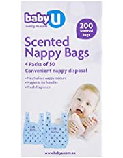 Baby U Scented Nappy Bags200 count, blue (5042)