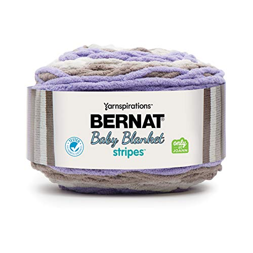 Bernat Baby Blanket Stripes Yarn, 10.5 oz, Mulberry Bush, 1 Ball