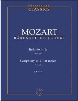 モーツァルト: 交響曲 第39番 変ホ長調 KV 543/ベーレンライター社/新モーツァルト全集版/中型スコア