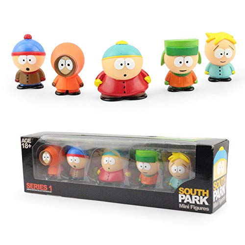 PAPWELL Set 5 South Park Toys 2.4 inch