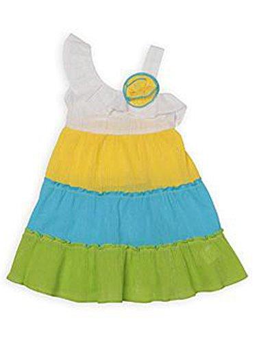 - Youngland Infant Toddler Girls Sun Dress Blue Green Ruffled Gauze Sundress 24m