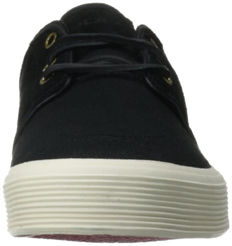 Polo Ralph Lauren Mens Faxon Låg Mode Mocka Sneaker Polo Svart / Svart / Real Red