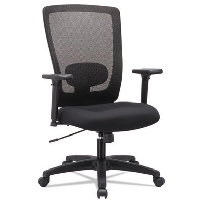 Alera ALENV41B14 Envy Series Mesh High-Back Swivel/Tilt Chair, Black