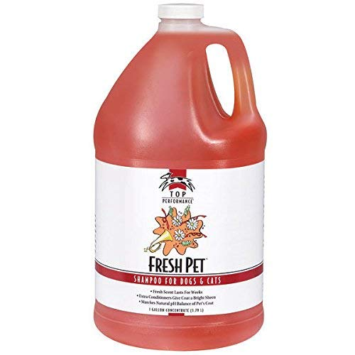 Fresh Pet Shampoo Concentrate Gallon Dog & Cat Professional Grooming Washing Use by Top Performance