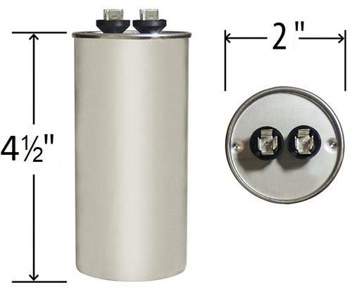 PowerWell 50 MFD uf Motor Run Round Capacitor 370 V VAC or 440 Volt 50 Micro Farad Pump HVAC PW-50/R - Guaranteed to Last 5 Years by PowerWell (Image #1)