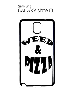 Weed and Pizza Cocaine and Caviar Mobile Cell Phone Case Samsung Note 3 Black
