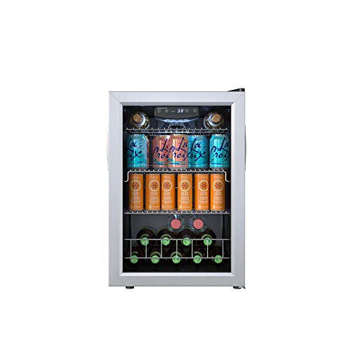 EdgeStar BWC91SS 17 Inch Wide 80 Can Capacity Extreme Cool Beverage Center