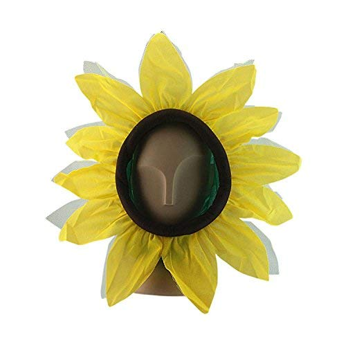 Kids Funny Sunflower Hat Cap Hood Headgear Performance Cosplay Prop Costume Accessories Mask For -