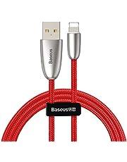 Baseus Torch Series Çinko Halat iPhone USB Şarj Kablosu 1.5A, 2m, Kırmızı