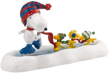 Department 56 Peanuts Village Snoopy s Skating Waltz Figurine Accessory, 2.36 inch